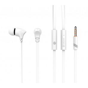 CELEBRAT Earphones με μικρόφωνο G3, on/off, 10mm, 1.2m, λευκά