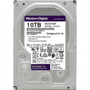 "WD HD3.5"" SATA3 10TB WD101PURP / Surveillance (Di)"