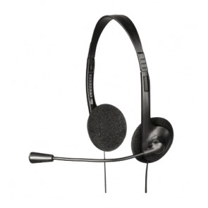 EXXTER Stereo Headset HE-100, Microphone, Black