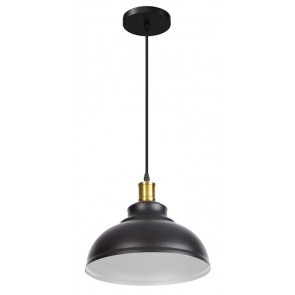 POWERTECH φωτιστικό οροφής HLL-0010, E27, Φ29, μεταλλικό, λευκό-μαύρο