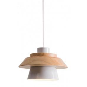 POWERTECH φωτιστικό οροφής HLL-0018, E27, ξύλινο, λευκό