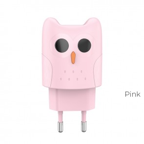 HOCO Travel Charger - 2.1A plug KC1A pink