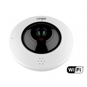 LONGSE IP WiFi PoE Dome Κάμερα IPP-004, 3MP Fisheye 360°, IR 20M, metal