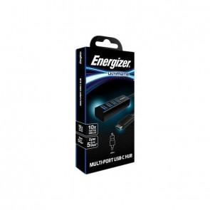 Energizer Ultimate USB-C to USB-A 3.0 Hub Adapter black