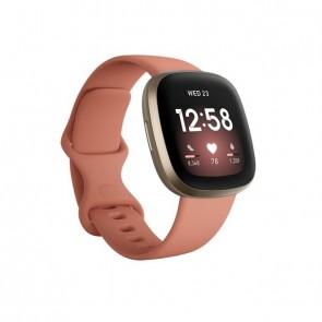 Fitbit Versa 3 Smartwatch pink clay/soft gold aluminum