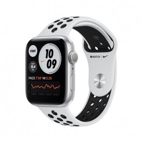 Apple Watch Nike Series 6 silver aluminium  44mm pure platinum/black sport band DE