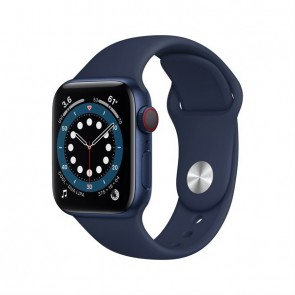 Apple Watch Series 6 blue aluminium  40mm 4G deep navy sport band DE
