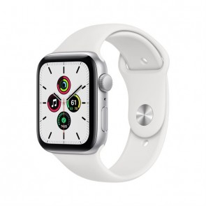 Apple Watch SE silver aluminium  44mm white sport band DE