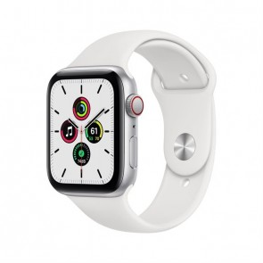 Apple Watch SE silver aluminium  44mm 4G white sport band DE