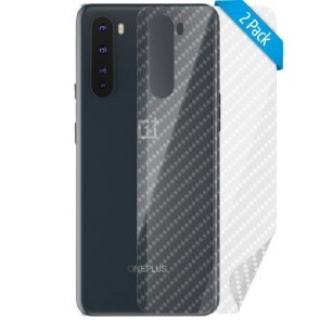 smart engineered 2x3D back protector for OnePlus Nord carbon