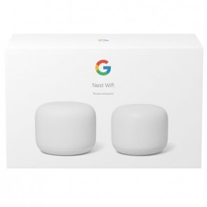 Google Nest Wifi Router and Point snow