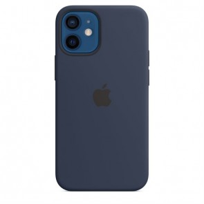 Apple Silicone Case with MagSafe for iPhone 12 Mini deep navy DE