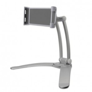 4smarts Wall Mount ErgoFix H7 with Desk Stand for Smartphones and Tablets silver