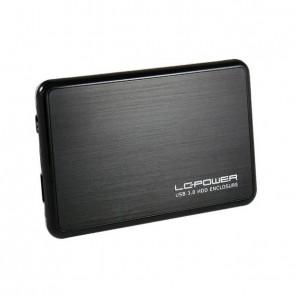 """USB Case SATA-HDD 2.5""""Alu USB3.0 LC-POWER black"""