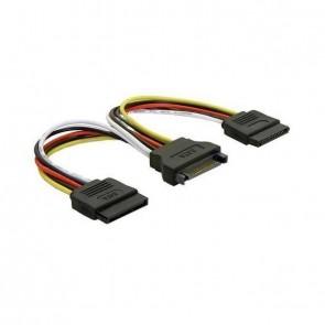 Delock Adapter SATA Strom 15-pin -> 2x SATA gerade