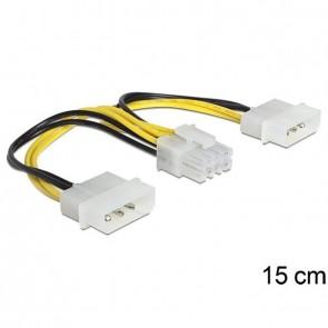 "Delock ATX Stromadapter 2x 5.25"" -> 8-pin (EPS)"