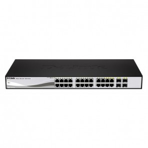 "D-Link Switch DGS-1210-24P 24xGBit/4xSFP 19"" Mana."