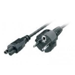 Kabel Netz 3 pol. SchuKo -> Kleeblatt 1m black