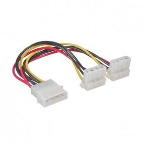 """Kabel Y-Strom Kabel 5.25"""" --> 2x 5.25"""" gewinkelt"""