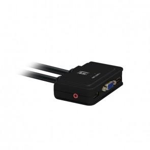 LevelOne KVM-Switch 2 PC VGA+USB+Audio Compact