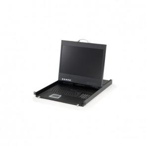"""LevelOne 19"""" Rackmount-TFT Konsole 1U DE (19"""" LCD)"""