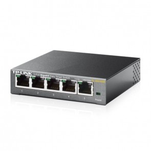 TP-LINK Switch TL-SG105E 5xGBit Managed Metallg.