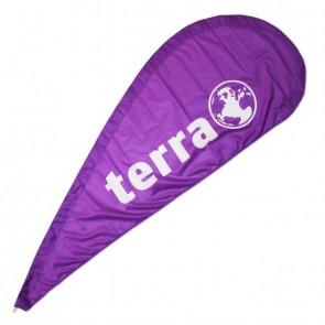 W TERRA Beachflag Fahne ohne Ständer