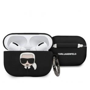 Original  case KARL LAGERFELD KLACAPSILGLBK Apple Airpods Pro black