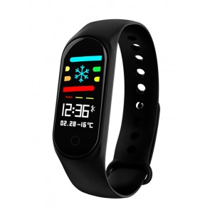 Smart Bracelet M3, Blood Pressure & Heart Rate Monitor, μαύρο