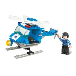 SLUBAN Τουβλάκια Town, Police Helicopter M38-B0175, 85τμχ