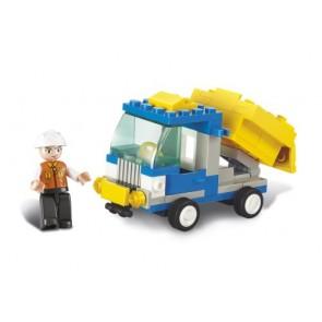 SLUBAN Τουβλάκια Town, Dump Truck M38-B0178, 65τμχ