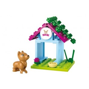SLUBAN Τουβλάκια Girls Dream, Dog House M38-B0513, 18τμχ
