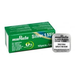 MURATA Μπαταρία λιθίου για ρολόγια SR41, 1.55V, No 392/384, 10τμχ