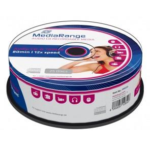 MEDIA RANGE AUDIO CD-R 80 min, 700MB, 52x, 25τμχ Cake box