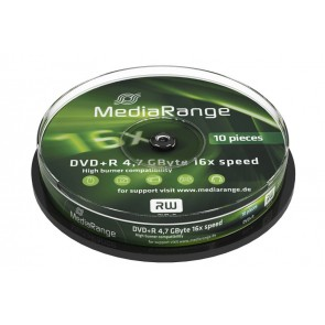 MEDIA RANGE DVD+R, 4.7GB, 16x, 10τμχ Cake box