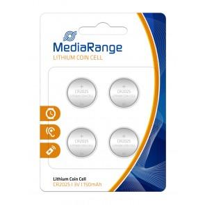 MediaRange Μπαταρία λιθίου 3v  CR2025 - Συσ.4 τεμ.