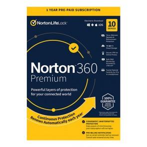 NORTON Antivirus 360 Premium ESD, 10 συσκευές, 75GB cloud, 1 έτος