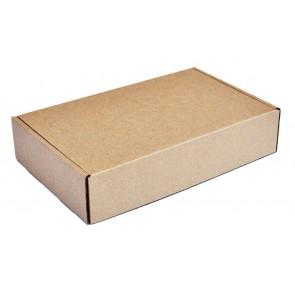 Χαρτοκιβώτιο συσκευασίας PAP-0002, τρίφυλλο, 20x13x3.5cm, καφέ, 100τμχ