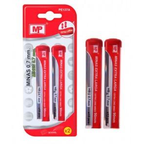 MP ανταλλακτικές μύτες για μηχανικό μολύβι PE137A, ΗΒ, 0.7mm, 2x 12τμχ