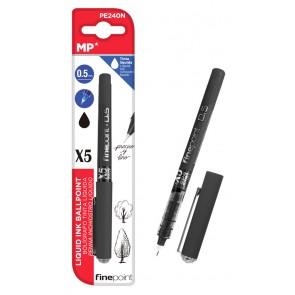 MP στυλό διαρκείας, καλλιγραφίας PE240N, 0.5mm, μαύρο