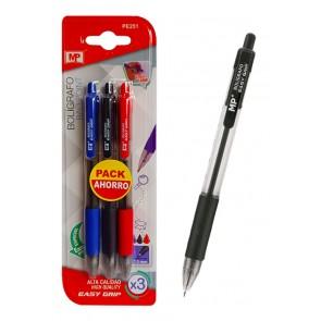 MP σετ στυλό διαρκείας τριών χρωμάτων PE251, 1.0mm, 3τμχ