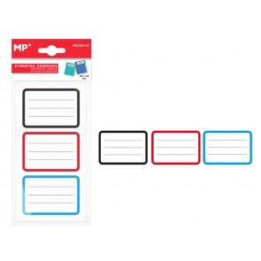 MP αυτοκόλλητες ετικέτες τερταδίων PN125-01, 65x45mm, 3 χρώματα, 24τμχ