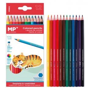 MP χρωματιστές ξυλομπογιές PP802, 12τμχ