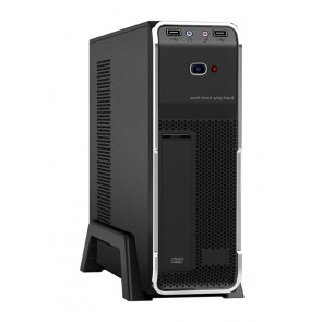 POWERTECH Case, MINI ATX, 2x USB 3.0, με PSU 300watt