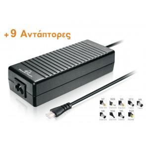 POWERTECH φορτιστής laptop PT-373, Universal, 120 watt, 9 tips