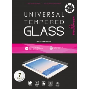 "POWERTECH Tempered Glass 9H(0.33MM) - Universal 7"" Screen Pad"