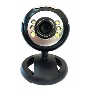 POWERTECH Web Camera 1.3MP, Plug & Play, Black