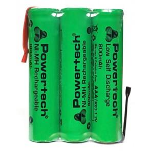 POWERTECH επαναφορτιζόμενη μπαταρία PT-790 800mAh, AAΑ (HR03), 3τμχ