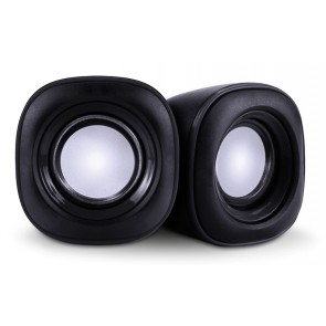 POWERTECH ηχεία Essential sound PT-844, 2x 3W, 3.5mm, μαύρα
