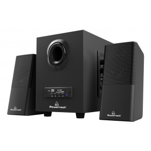 POWERTECH ηχεία Premium sound PT-846, 16W, USB/SD/FM/BT, remote, μαύρα